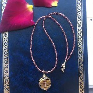 Jewelry - 302: Gold Rain Venetian Glass Necklace